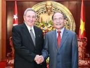 Dirigente parlamentario vietnamita recibe a máximo líder cubano