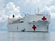 Barco hospital de EE.UU. en ciudad vietnamita