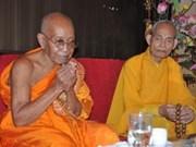 Dirigente vietnamita recibe a budistas camboyanas