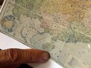 Mapa antiguo sobre soberanía vietnamita