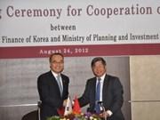 Vietnam y Sudcorea firman acuerdo de cooperación público -privada