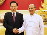 Presidente de Myanmar visita Sudcorea