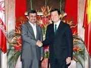 Presidente iraní Ahmadinejad en Vietnam