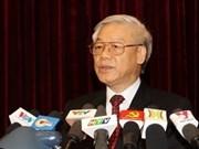 Líder partidista congratula éxito de 2012