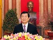 Felicitación presidencial al pueblo por el Tet