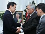 Presidente vietnamita rinde tributo a Chávez