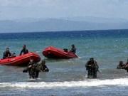 Ensayo conjunto entre fuerzas marinas de Singapur y Brunei