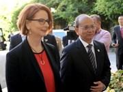 Myanmar y Australia profundizan relaciones