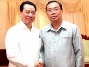 Vietnam y Laos fortalecen labores teóricas