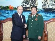 Ministro de Defensa recibe al jefe de seguridad de Rusia