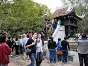 Crece cifra de de turistas extranjeros a Hanoi