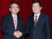 Recibe presidente vietnamita a empresario japonés