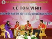 Vietnam rinde homenaje a donantes de sangre