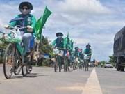 Recorrido en bicicleta a favor del mar e islas de Vietnam