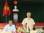 Líder vietnamita exhorta a buscar desarrollo sostenible