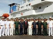 Arriba a Vietnam buque de policía marítima de Japón