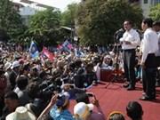 Manifestación contra resultados electorales en Cambodia