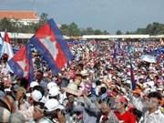 En orden manifestación opositora en Phnom Penh