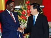 Presidente vietnamita recibe a canciller de Congo