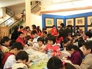 """Inaugura exposición infantil de pinturas """"Un día con Doraemon"""""""