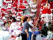 Invade Vietnam ambiente de Navidad