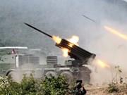 Cambodia realiza ejercicio militar con fuego real