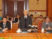 Dirigente partidista vietnamita conduce sesión teórica