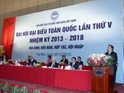 Unión vietnamita de Organizaciones de Amistad celebra congreso nacional