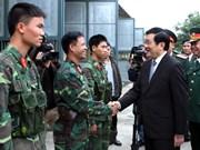 Presidente vietnamita urge a impulsar entrenamiento militar