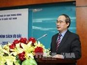 Frente de Patria de Vietnam traza orientaciones para este año