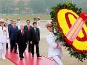 Máximo dirigente del PCV rinde homenaje al Presidente Ho Chi Minh