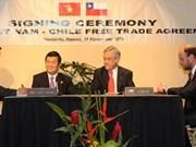 Chile elogia Tratado de Libre Comercio con Vietnam