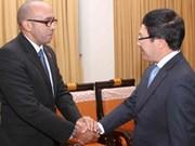 Vicepremier recibe a embajadores de Cuba y la India