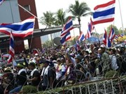 Prohíben uso de fuerza contra manifestantes en Tailandia
