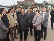 Vicepremier vietnamita examina proyecto de ampliar carretera nacional