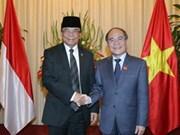 Líder parlamentario vietnamita se reúne con homólogo indonesio