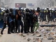 Policía antidisturbios de Phnom Penh realiza ejercicio regular