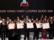 Vietnam entrega premio de calidad a empresas destacadas