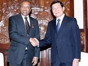 Presidente vietnamita recibe a dirigente de Cruz Roja internacional