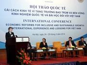 Comparten experiencias de crecimiento inclusivo en Hanoi