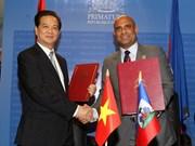 Vietnam y Haití emiten declaración conjunta