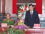 Exhortan a perfeccionar la seguridad pública en Vietnam