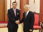 Líder político vietnamita recibe a embajador chino