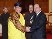 Vicepremier vietnamita recibe al líder budista XII Gyalwang Drukpa