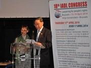 Vietnam participa en Congreso de juristas demócratas
