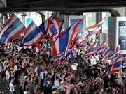 Arrestan a agitador de protestantes en Tailandia