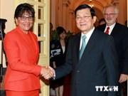 Dirigentes vietnamitas reciben a secretaria estadounidense