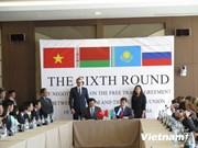 Concluyen sexta ronda de negociación entre Vietnam y la Unión Aduanera