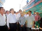 Presidente vietnamita elogia valentía de marinos y pescadores