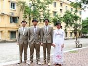 Galardonados alumnos vietnamitas en Olimpíada de Biología